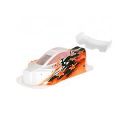 BX10 Bitty design lakovaná lexanová karoserie včetně křídla, oranžová - 1
