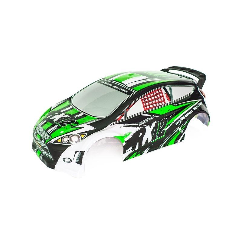 RX12 zelená lakovaná lexanová karoserie - 1