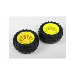 Nalepené gumy - 1/10 Monster, žluté disky (2ks) - 1