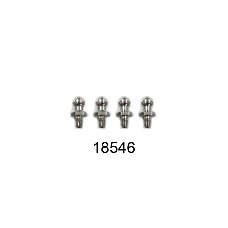 Kulové čepy řízení 2,6mm, 4ks. - 1