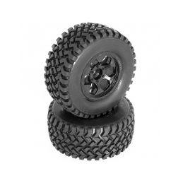 DB8SL a Short Course nalepené gumy, černé disky, 2ks. - 1