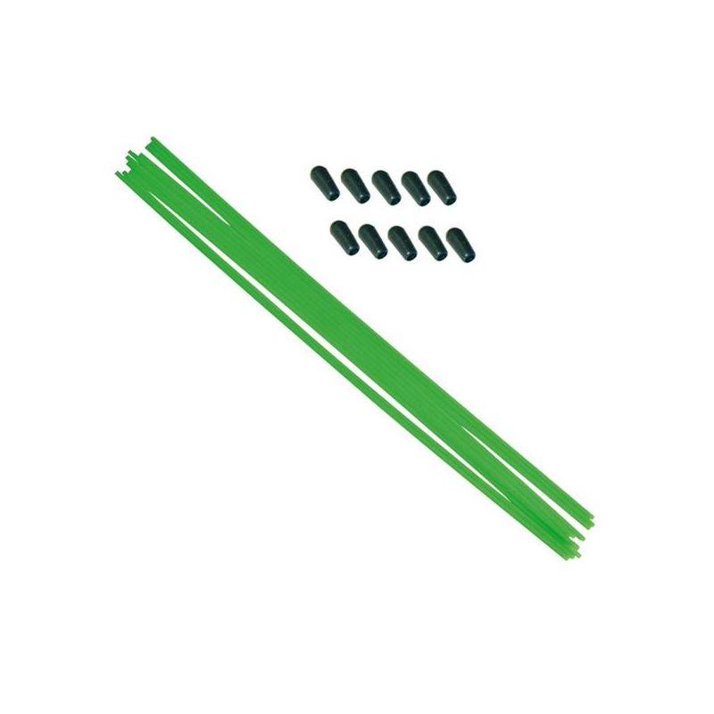 Anténové trubičky RC AUTA 10 ks. - zelené - 1