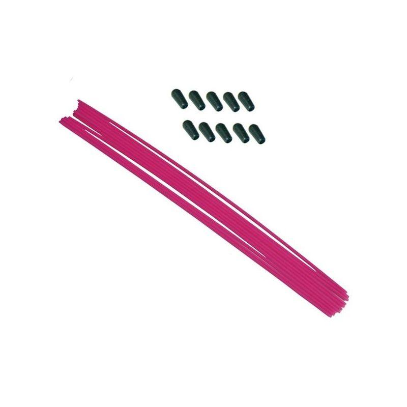 Anténové trubičky RC AUTA 10 ks. - růžové - 1
