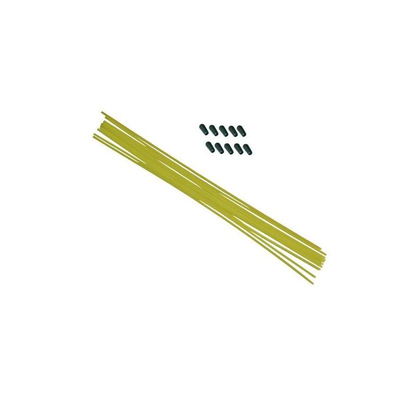 Anténové trubičky RC AUTA 10 ks. - žluté - 1