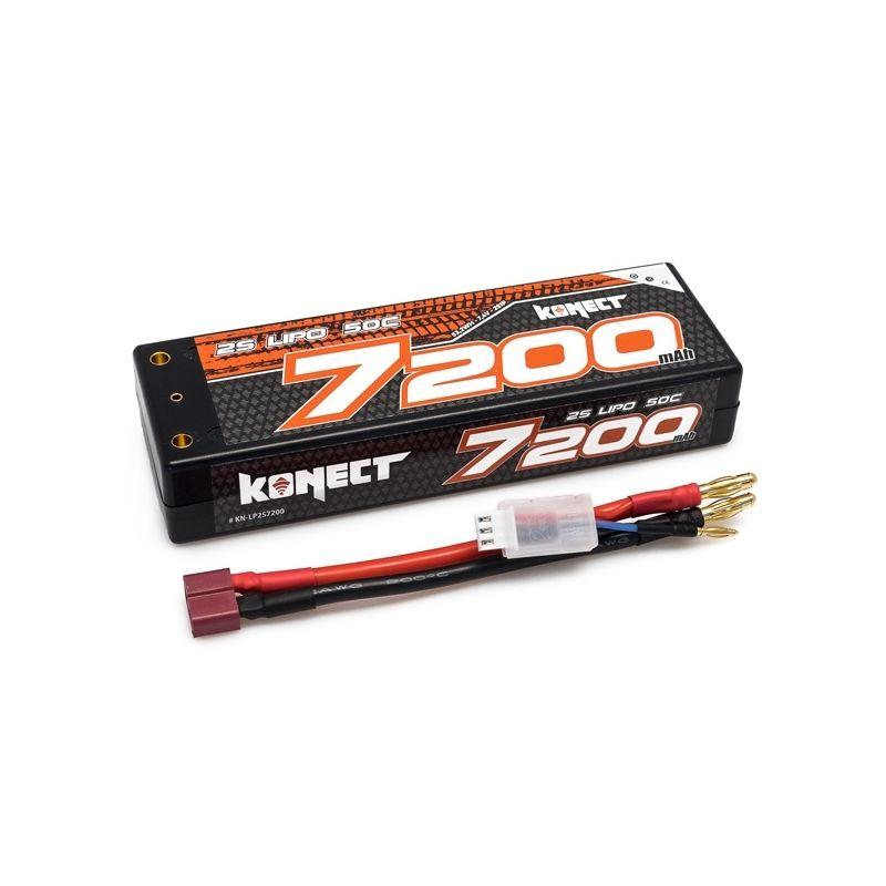 KONECT LiPo 7200mah 7.4V 50C 2S1P 53,2Wh (T-Dean ) - 1