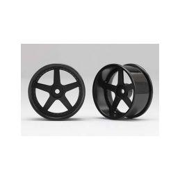 Racing Performer Driftovací disky 5 paprsků 01 (8mm Offset/Černé/2ks) - 1