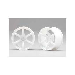 Racing Performer Driftovací disky 6 paprsků 02 (6mm Offset/Bílé/2ks) - 1