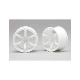 Racing Performer Driftovací disky 6 paprsků 02 (8mm Offset/Bílé/2ks) - 1