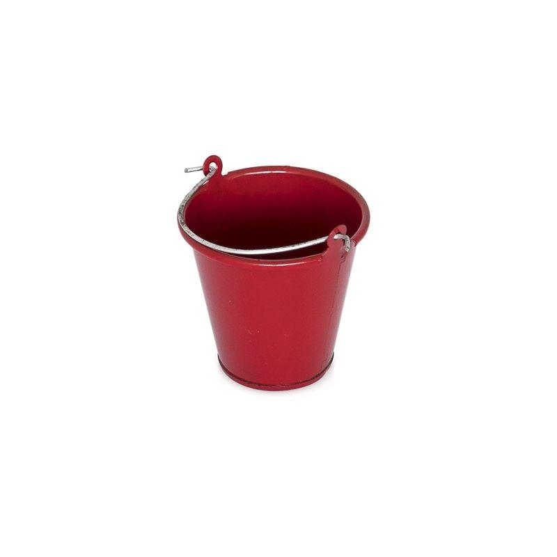 Červený kovový kbelík - 1