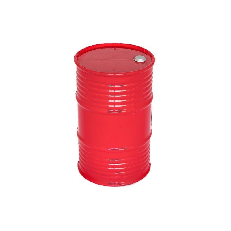 Plastový olejový barel, červený - 1