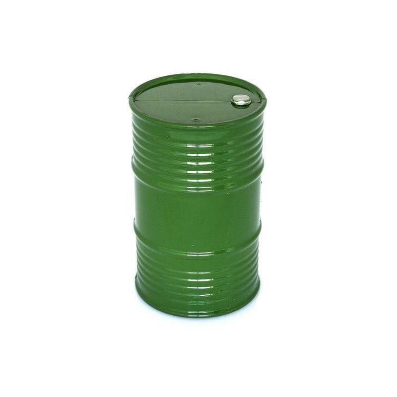 Plastový olejový barel, zelený - 1