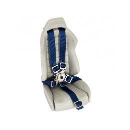 Pětibodové pásy s kov. přesk. , modré popruhy - 2