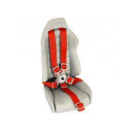 Pětibodové pásy s kov. přesk. , červené popruhy - 2