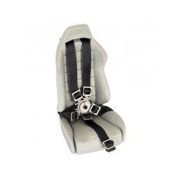 Pětibodové pásy s kov. přesk. , černé popruhy - 2