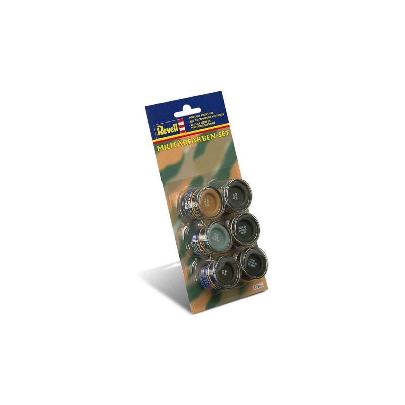 Revell sada emailových barev - Military (6x14ml) - 1