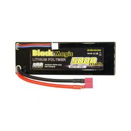 Black Magic LiPol Car 7.4V 5000mAh 50C Deans - 1