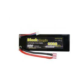 Black Magic LiPol Car 7.4V 6500mAh 50C Deans - 1