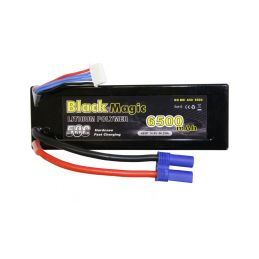 Black Magic LiPol Car 14.8V 6500mAh 50C EC5 - 1