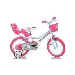 """DINO Bikes - Dětské kolo 14"""" Hello Kitty2 se sedačkou - 1"""