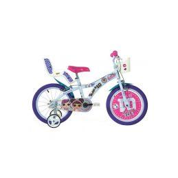 """DINO Bikes - Dětské kolo 16"""" LOL Surprise se sedačkou pro panenku a košíkem - 1"""