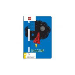 LEGO zápisník A5 s modrým perem Imagine - 1