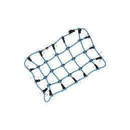 Robitronic poutací síť s háčky 19x12cm modrá - 1