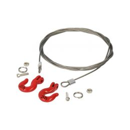 Robitronic ocelové lanko s oky - 1
