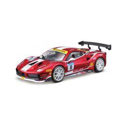 Bburago Ferrari 488 Challenge 2017 1:24 červená - 1