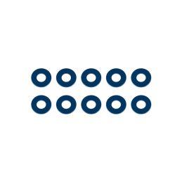 Bulkhead podložky, 7.8x3.5x0,5mm, modré alu, 10 ks. - 1