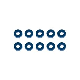 Bulkhead podložky, 7.8x3.5x2,0mm, modré alu, 10 ks. - 1