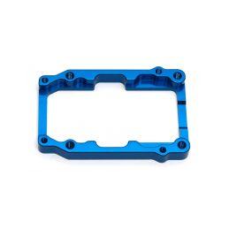 RC8B3 modrý hliníkový ráměček držáku motoru - 1