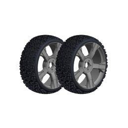 Off-Road 1/8 Buggy nalepené gumy - Gripper - černé disky - 1 pár - 1