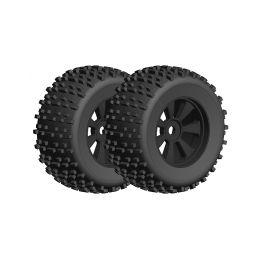 Off-Road 1/8 Monster nalepené gumy - Gripper - černé disky - 1 pár - 1