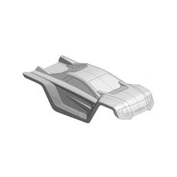 Čirá lexanová karoserie SHOGUN XP 6S, vystřižená, 1 ks. - 1