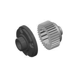 Dif. převody - kovové - Dif. plastvá klec - kompositový plast - 1 sada - 1