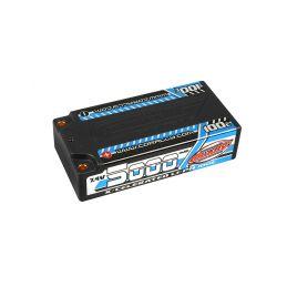X-CELERATED 100C LiPo Shorty Hardcase-5000mAh-7.4V-G4 (35,52Wh) - 1