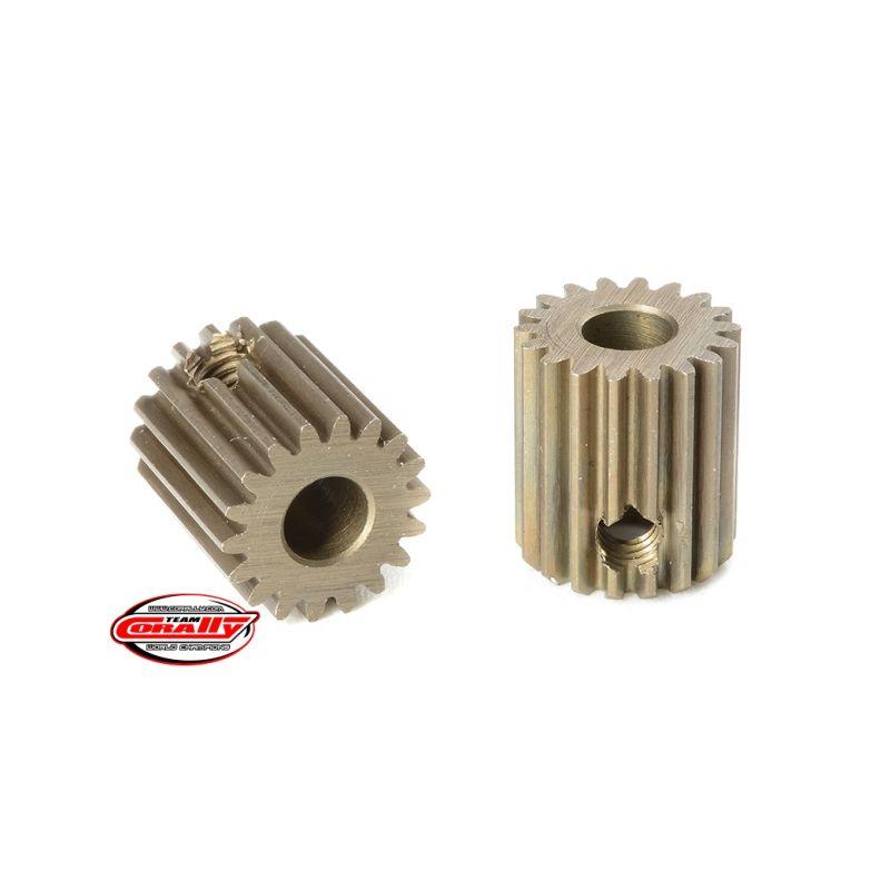 Ocelový tvrzený pastorek 18 zubů (modul 64DP) - 1