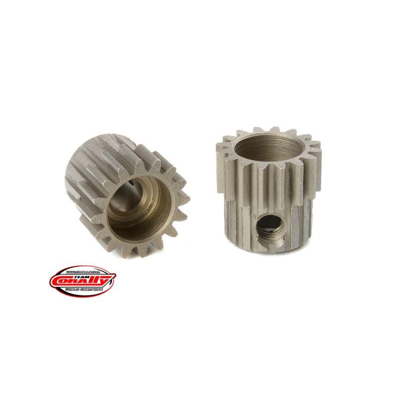 Ocelový tvrzený pastorek 16 zubů (modul 48DP) - 1