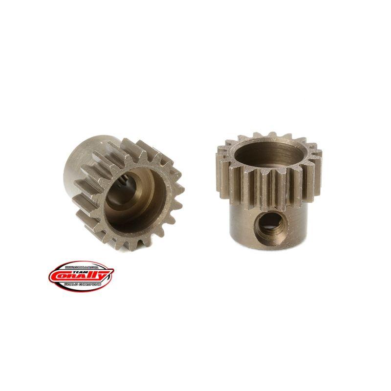 Ocelový tvrzený pastorek 18 zubů (modul 48DP) - 1