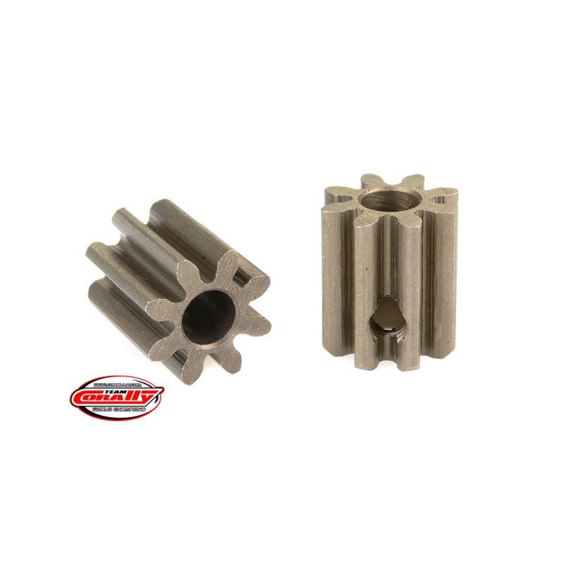 Ocelový tvrzený pastorek 8 zubů (modul 32DP) - 1