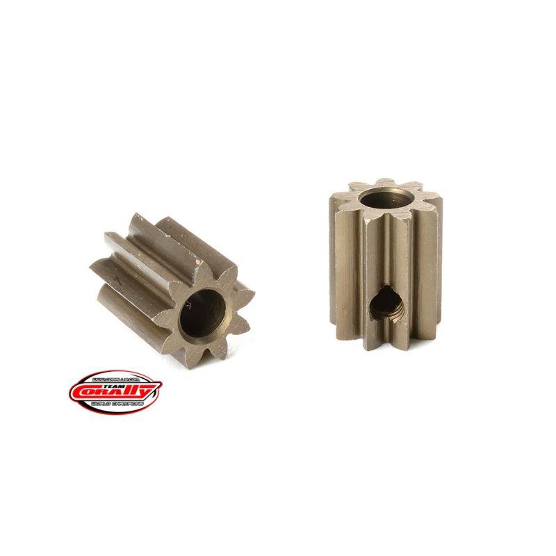 Ocelový tvrzený pastorek 9 zubů (modul 0,6) - 1