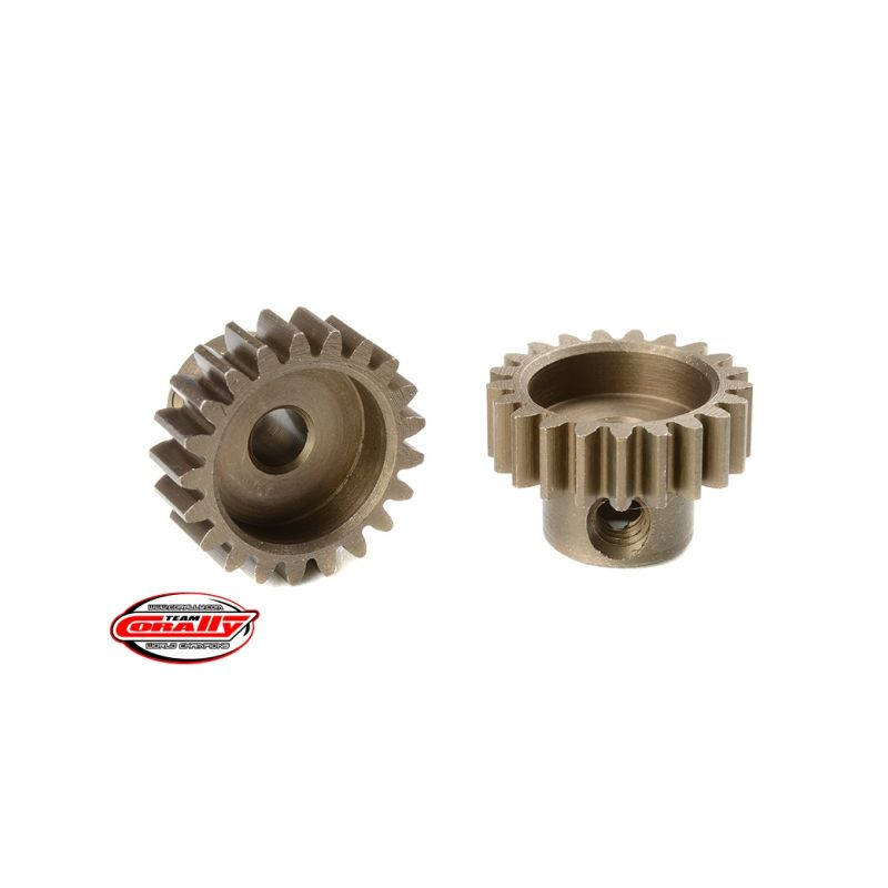 Ocelový tvrzený pastorek 21 zubů (modul 0,6) - 1