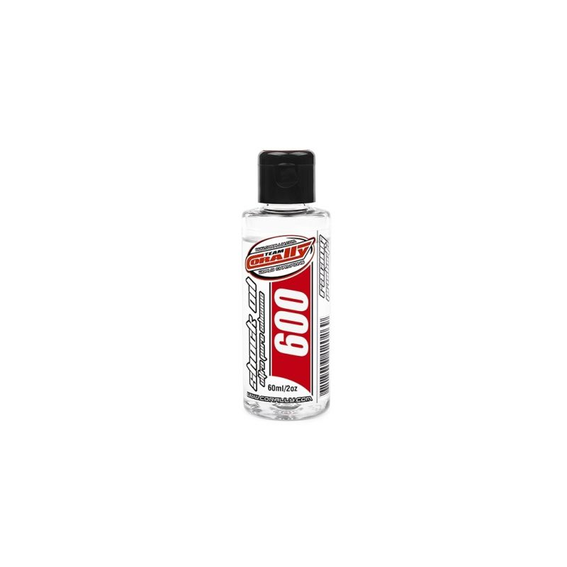 TEAM CORALLY - silikonový olej do tlumičů 600 CPS (60ml/2oz) - 1