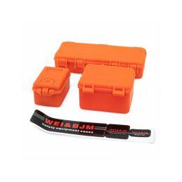 Sada 3 oranžových ochranných kufrů - 1