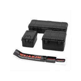 Sada 3 černých ochranných kufrů - 1