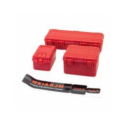 Sada 3 červených ochranných kufrů - 1