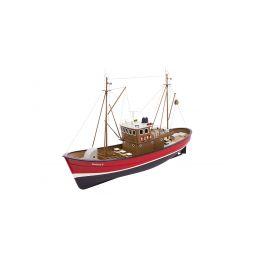 Borkum II rybářský člun 1:25 červený ARTR - 1