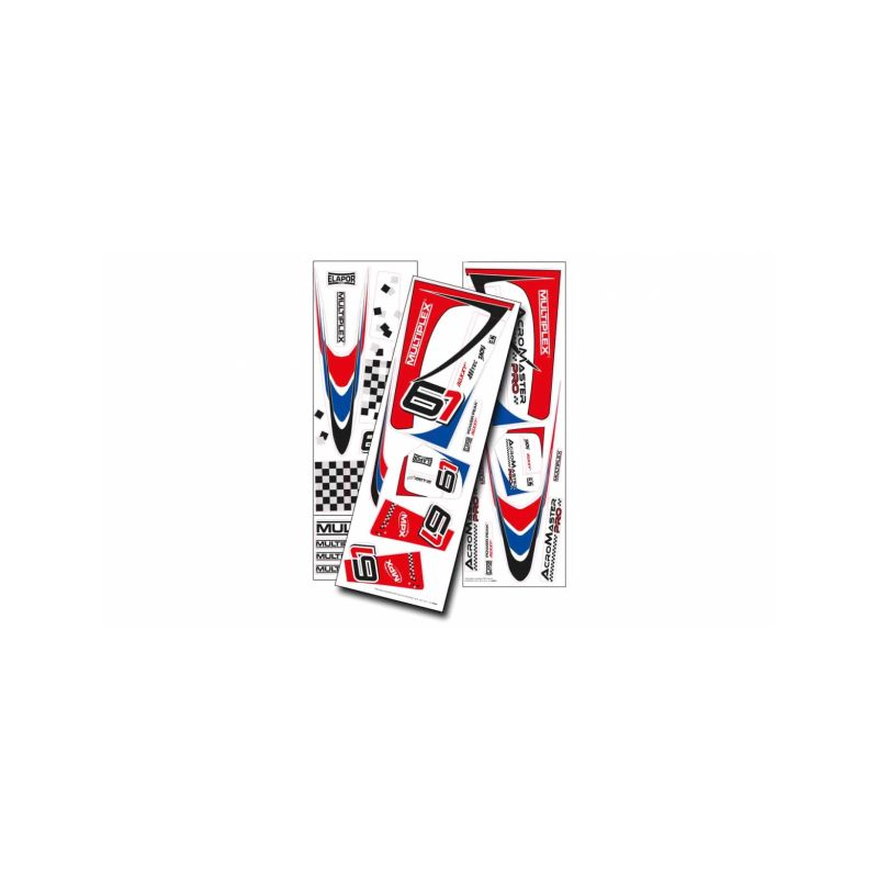 1-00856 polepy Acromaster Pro modro-červené - 1