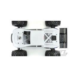 BRUTE lakovaná karoserie, bílá, předříznutá pro TRX E-REVO 2.0 - 4