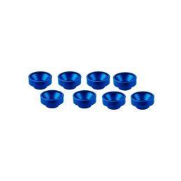 M3 alu servo podložky modré (8 ks.) - 1